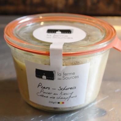 Poulet au Riesling crème de champignons